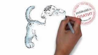 Собаки  Как нарисовать красивую собаку ребенку поэтапно карандашом