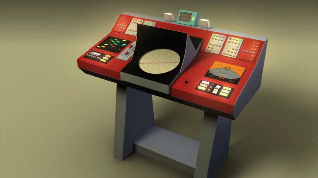 Star trek transporter control console turnaround youtube for What is console
