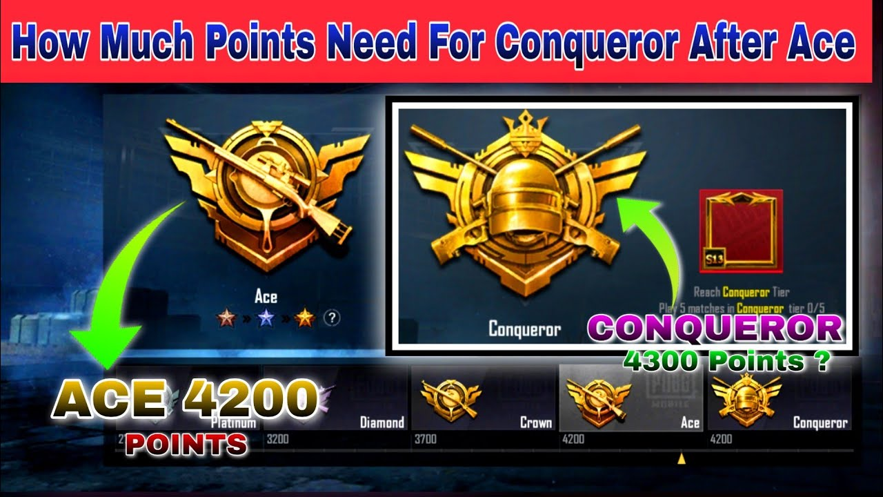 Pubg Mobile How Much Points for Conqueror Season 14 | How many point need for Conqueror Pubg Mobile