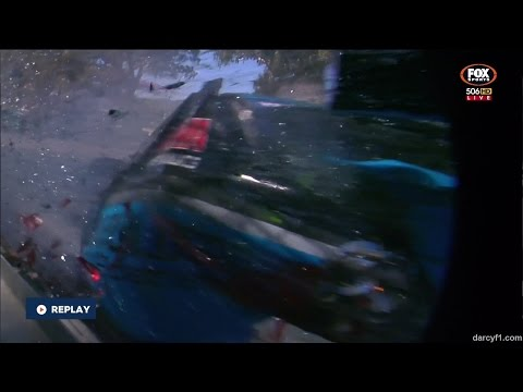 Dunlop V8 Supercars 2015 Adelaide Race 2 Golding Huge Crash