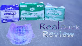 Real Quick Review Ep4  LivDry™ Premium brief two-part system #adultdiaper