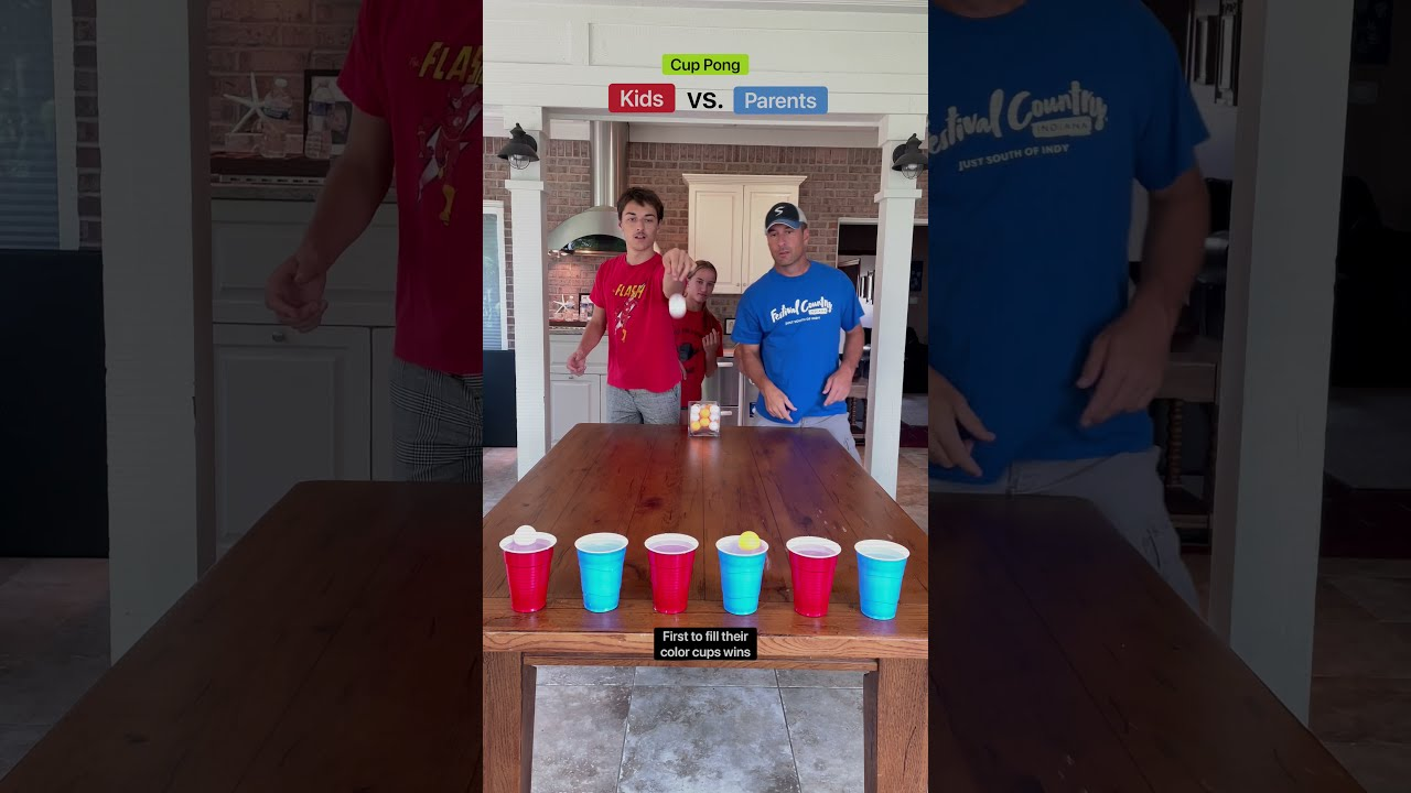 Parents vs. Kids!!!  BLUE OR RED????