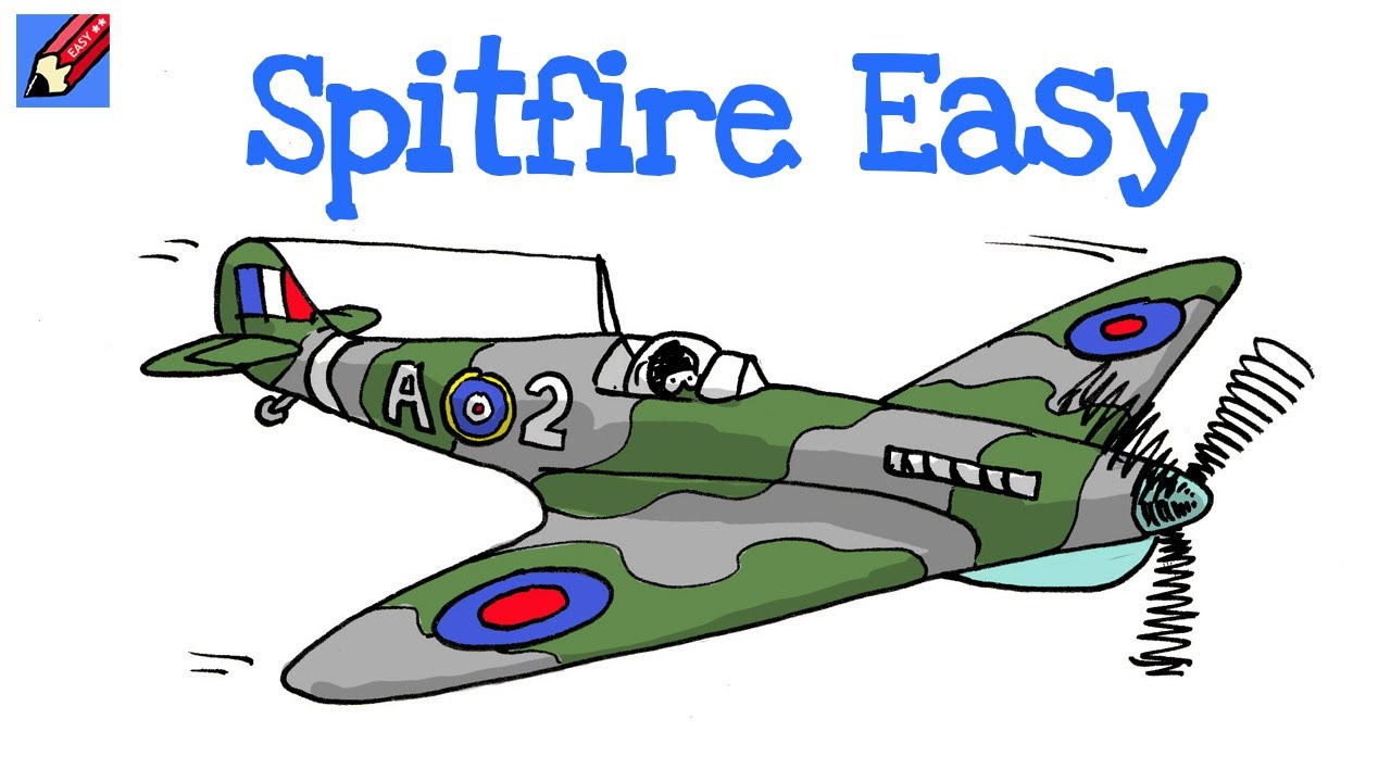 Draw Spitfire Real Easy Step By Step Youtube