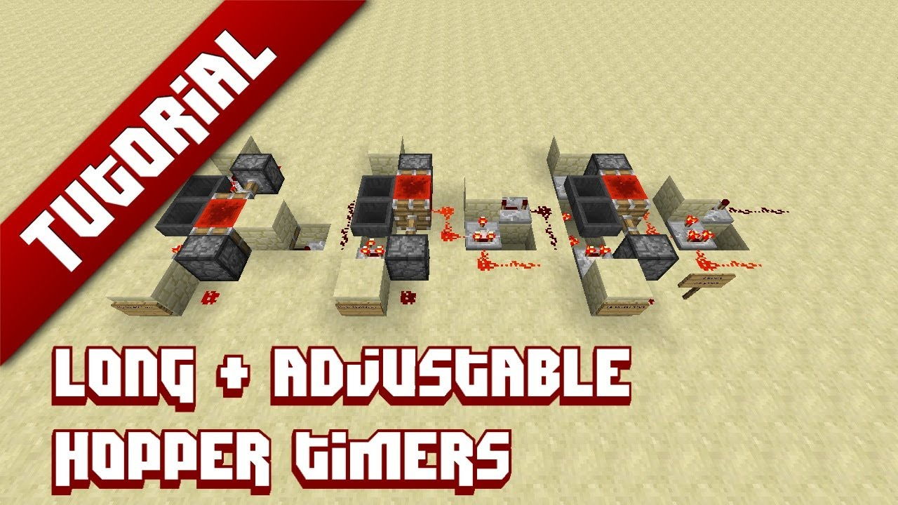 Minecraft Tutorial: Extremely long and adjustable hopper timers