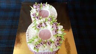 Торт на 8 МАРТА Оформление тортов Украшение тортов кремом Cake decoration(Полезные ссылки : ************************************* Ссылка , чтобы ПОДПИСАТЬСЯ на канал : https://goo.gl/ugnR1c **************************************..., 2017-02-27T12:41:19.000Z)