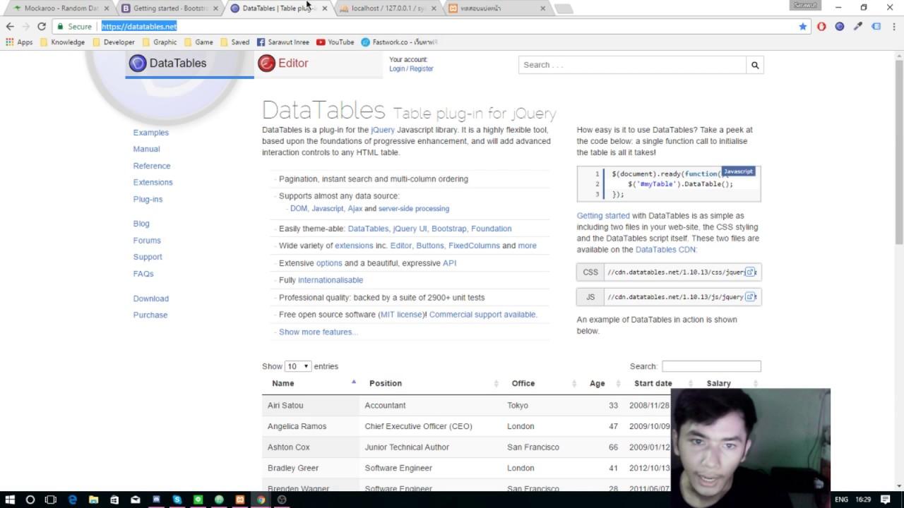 Datatables Cdn