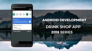 Android Studio Tutorial   Drink Shop part 45 Server app show new order notification