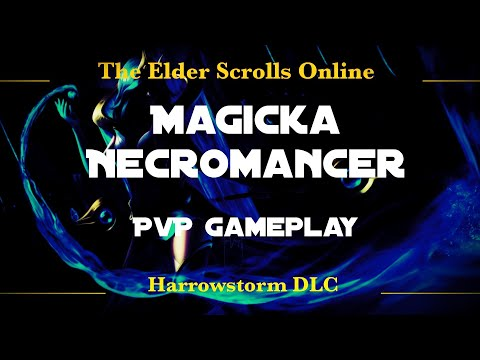 ESO Magicka Necromancer PvP Gameplay | Elder Scrolls Online Harrowstorm |