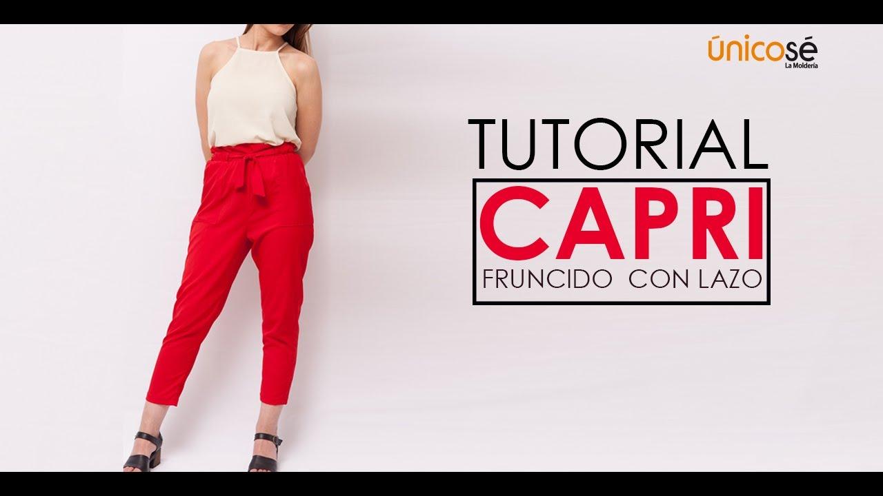 varios colores grande descuento venta venta de descuento DIY COSTURA: Como coser un Pantalón Capri FÁCIL.