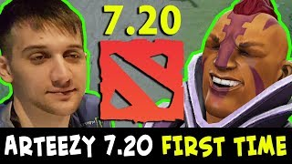 Arteezy in 7.20 FIRST TIME - NEW Anti-Mage EZ COUNTER Bounty Hunter