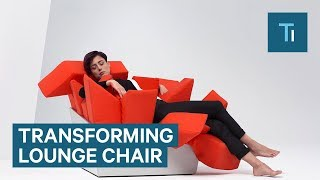 Relax any way you want in this transforming chair