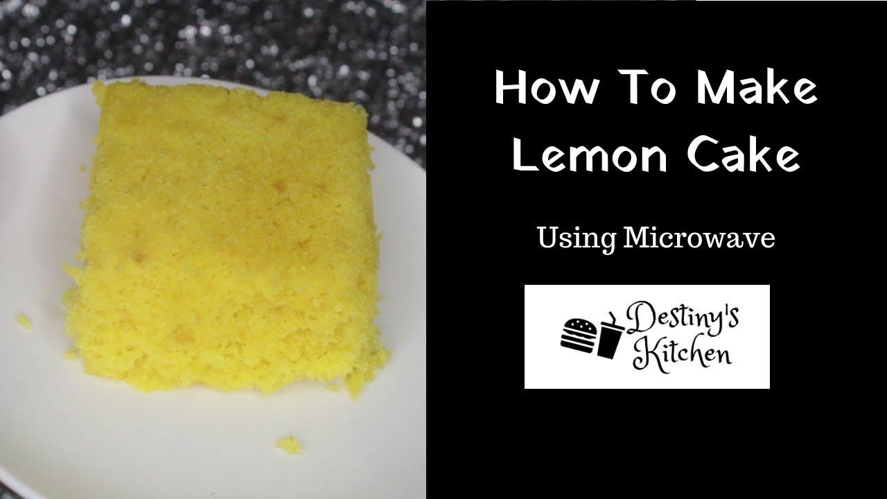 Microwave Cake Recipes Lemon: How To Make Microwave Lemon Cake