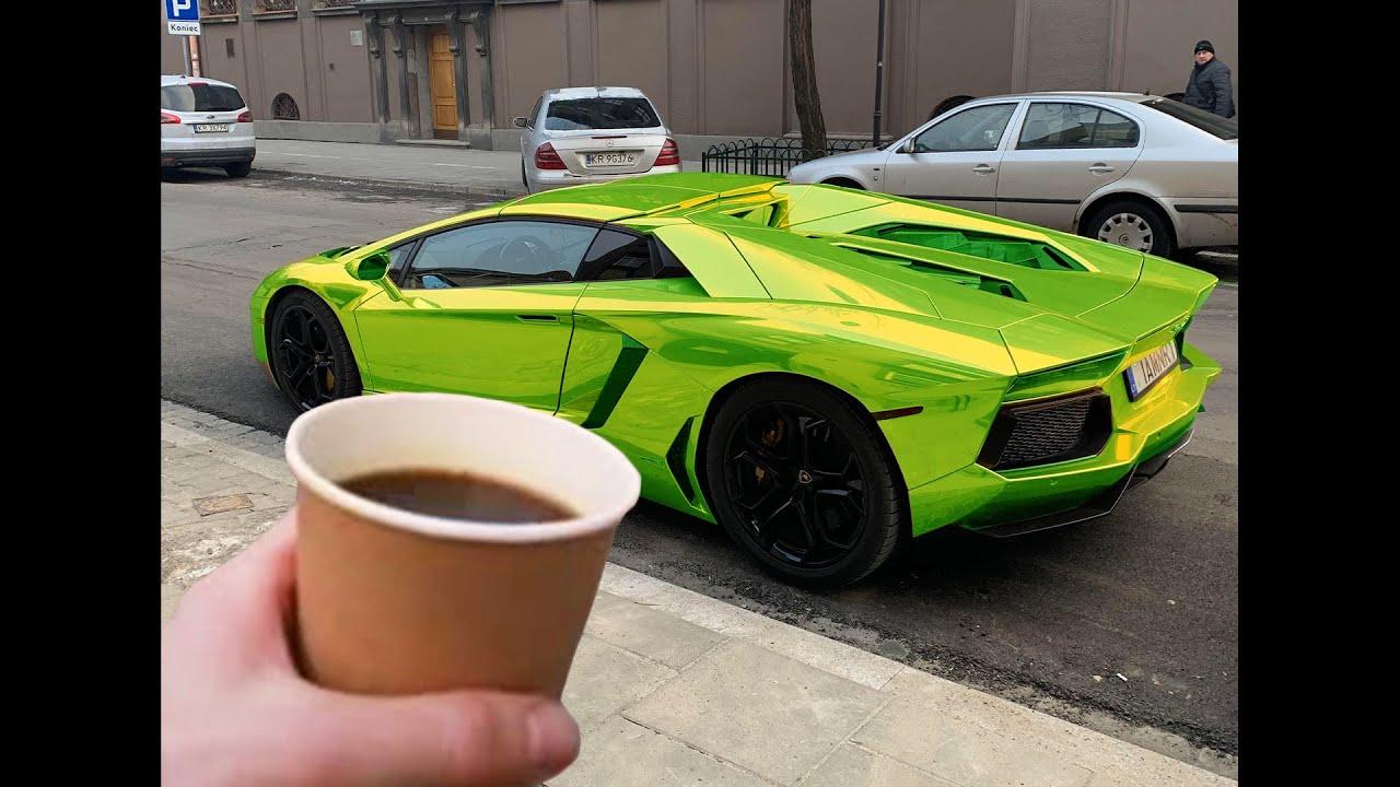 pouring coffee on loud lamborghini.. (BIG MISTAKE)