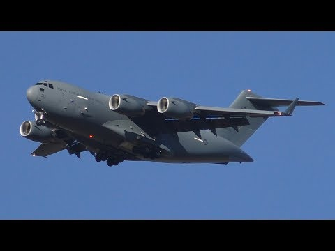 RAAF Boeing C-17 Globemaster III Tactical Touch & Go's at RAAF Base Amberley | A41-213