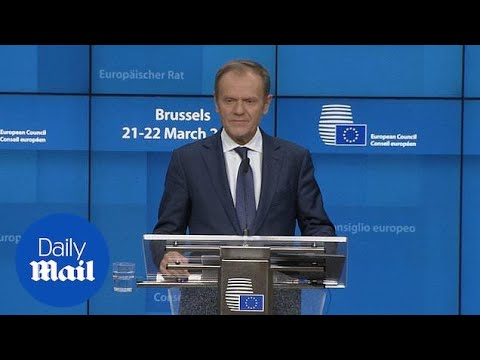 Tusk reveals EU has agreed two week Brexit deal under conditions
