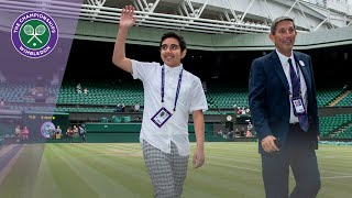 Omar Popal talks about performing the coin toss for the Wimbledon 2019 Gentlemen's Singles Final