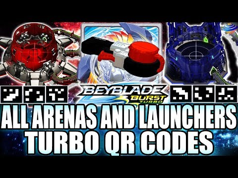 ALL TURBO ARENAS + PRECISION LAUNCHER QR CODES + ZANKYE COLLAB!  BEYBLADE BURST APP TURBO QR CODES