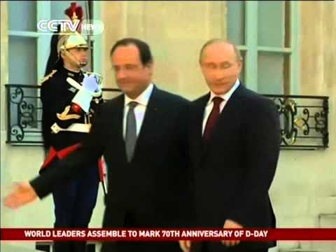 World leaders meet for D-Day anniversary
