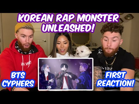 Identical Twins and Korean Girlfriend FIRST TIME Reaction to BTS Cyphers 1&2