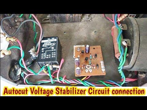 Autocut Voltage Stabilizer Circuit Connection