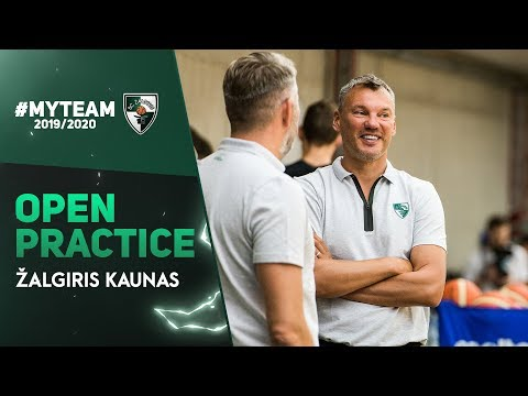 Jasikevicius and LeDay answer questions in Zalgiris' open practice