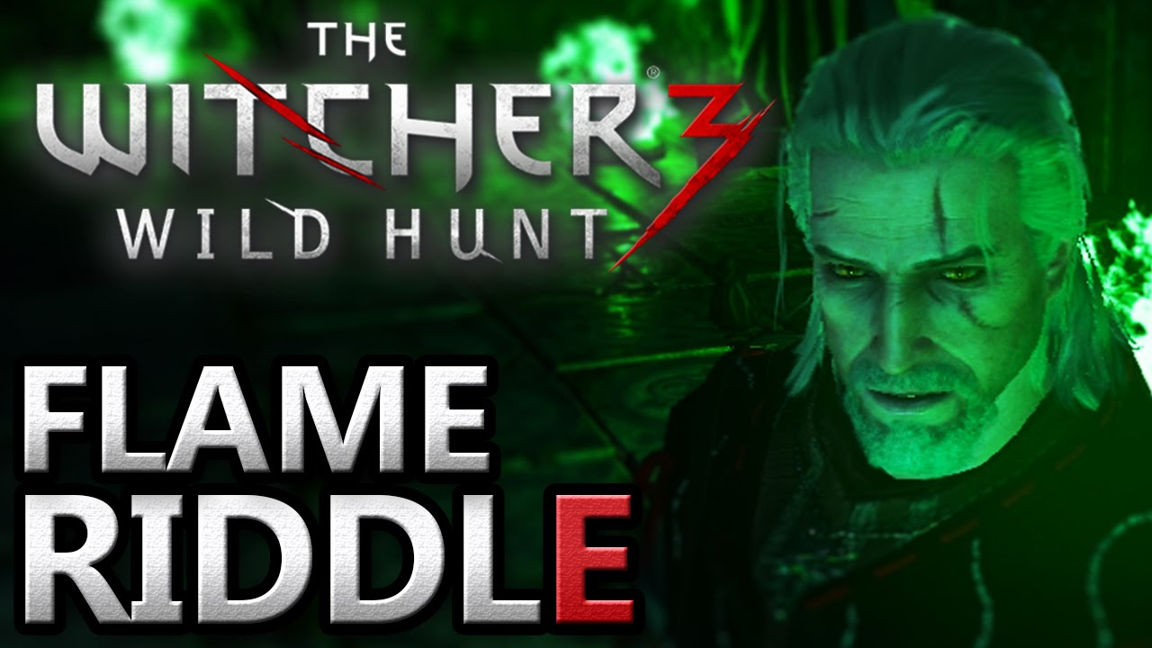The Witcher 3 ~ Flame Puzzle [Magic Lamp Quest, Riddle] - YouTube