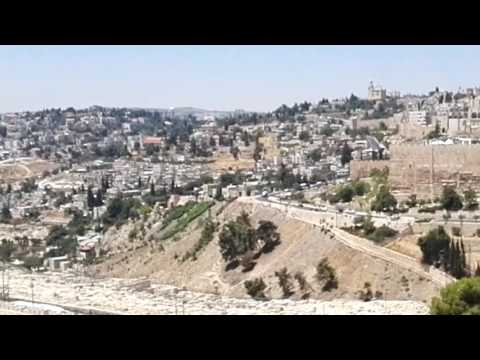 Observation of Jerusalem from the Mount of Olives (including a detailed explanation of all places).