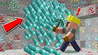 MINECRAFT But VILLAGERS MINE DIAMONDS FOR YOU!