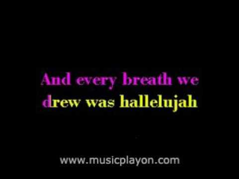 HALLELUJAH! Rufus Wainwright    Karaoke