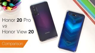 Honor 20 Pro vs View 20