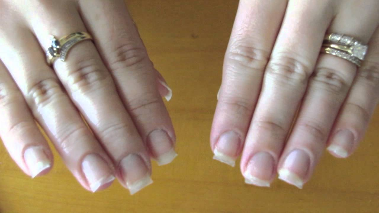 Adding strength to natural nails using wraps - YouTube