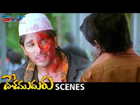 Allu Arjun Fakes a Getup | Desamuduru Telugu Movie Scenes | Hansika | Puri Jagannadh