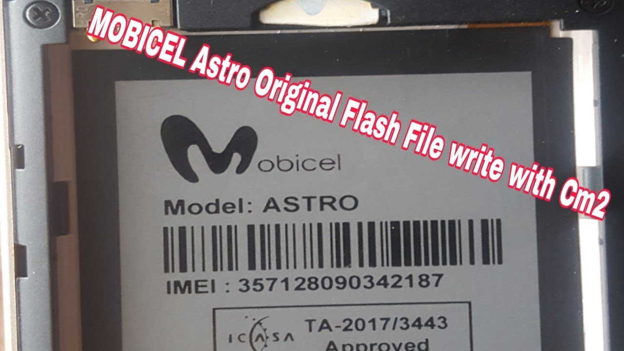 Mobicel Astro Original Flash file write with Cm2 How to Flash Mobicel Astro