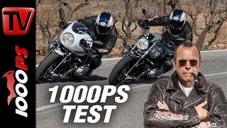 1000PS Test - BMW R nineT Racer vs R nineT Pure 2017  - Pure Freude, fordernder Racer