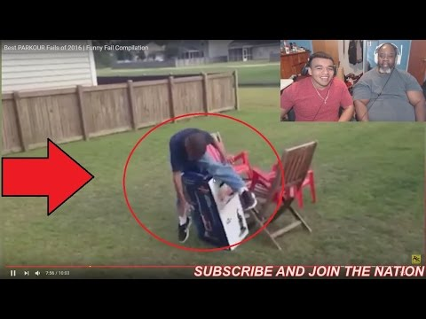 Dad Reacts to Best Parkour Fails of 2016!