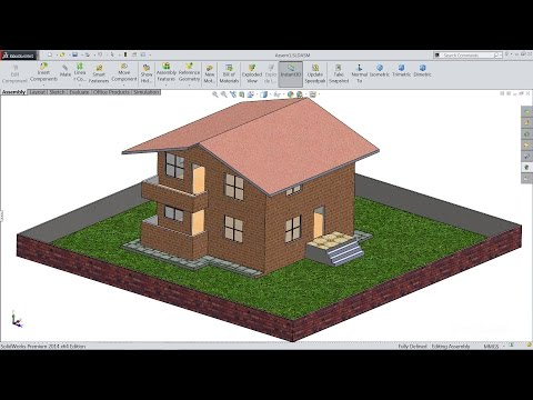 Solidworks tutorial | sketch House in Solidworks