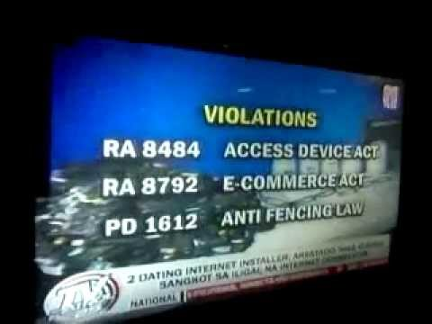 ABS-CBN NEWS TVPatrol (May 17, 2013)- 2 Globe Wimax Hacker Huli