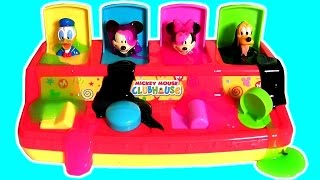 Learn Colors with Disney Baby Mickey Mouse Clubhouse Pop Up Pals Slime Baff Surprise Toys