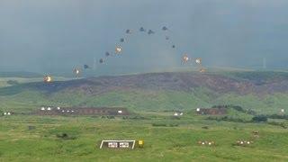 【特科が誇る100分の1秒単位の職人技】21門の火砲で空中に富士山を描く Japanese Army Artillery