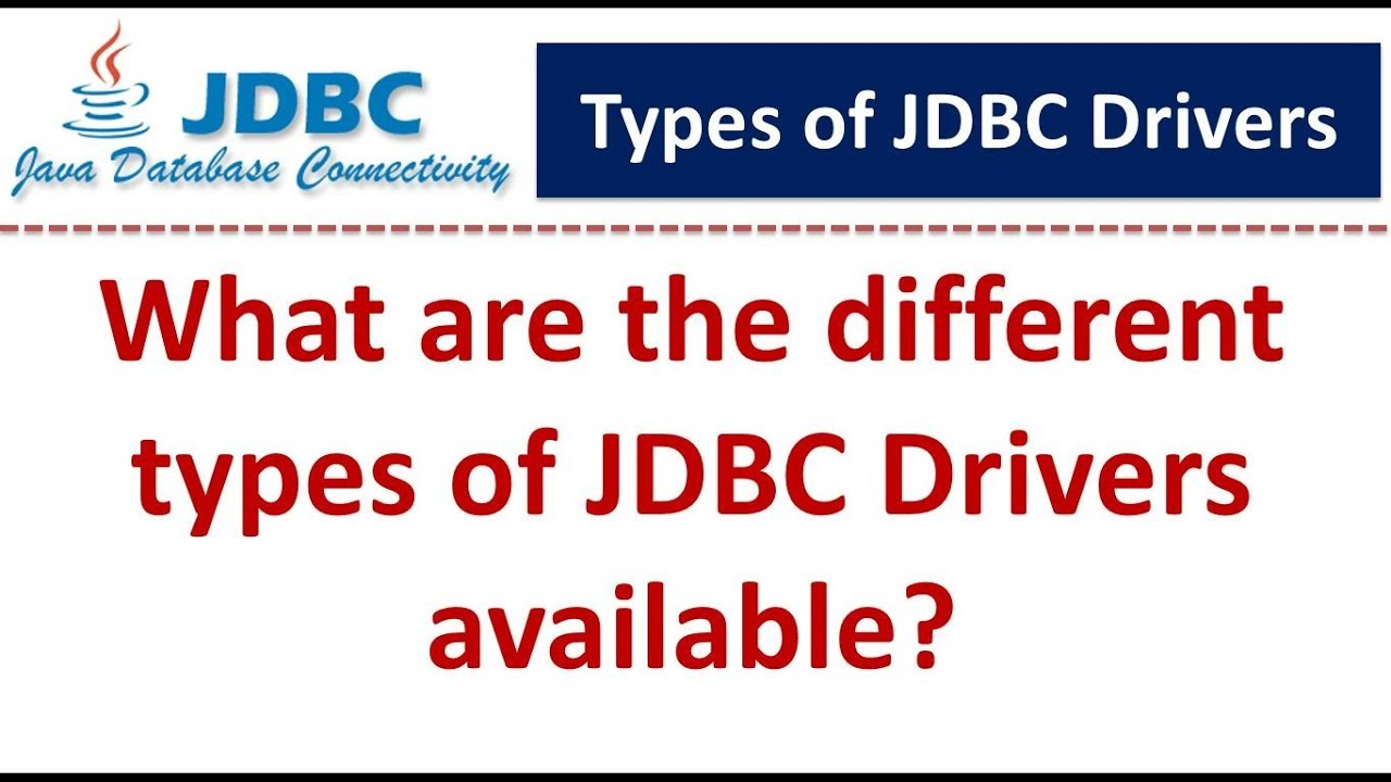 jdbc drivers types in java