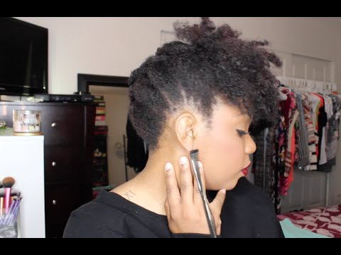 Natural Hair | Upside Down French Braid Updo - YouTube