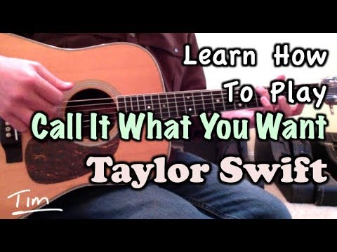 Taylor Swift Call It What You Want (SNL) Chords and Tutorial - YouTube