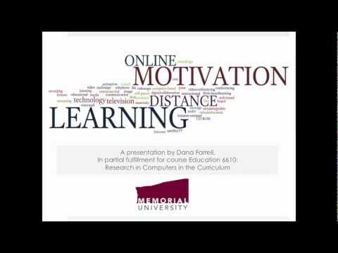 Student Motivation in Distance and Online Learning