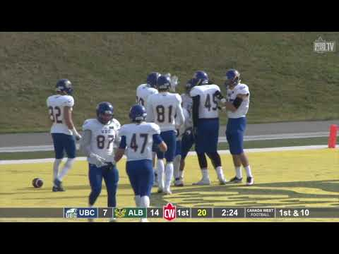 UBC 41 - Alberta 21 (Canada West Football)