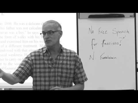 No Free Speech for Fascists? - Class 5 April 3, 2017 - Norman Finkelstein at the Brooklyn Library