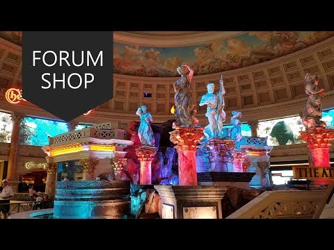 Walking The Forum shops at Caesars Palace Jun, 2017