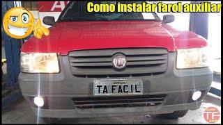Instalação do kit  farol de milha no Fiat Uno