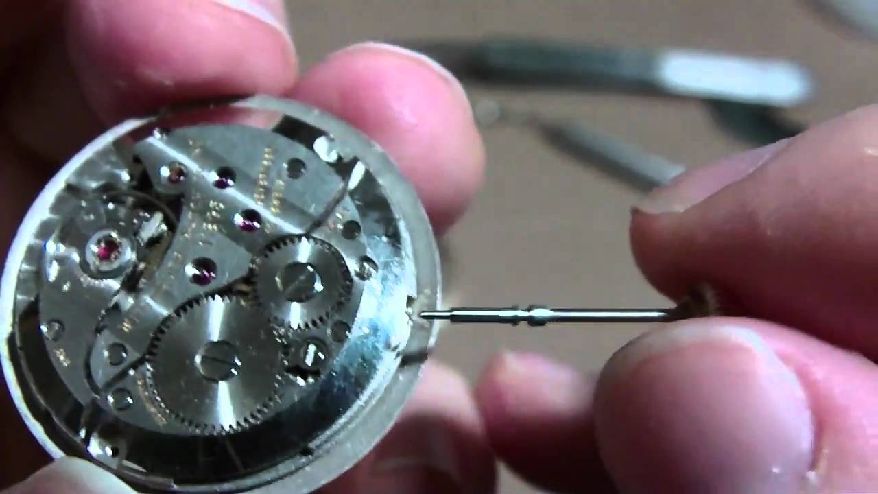 How I Remove A Wrist Watch Stem And Crown Screw Type
