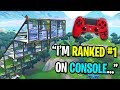 I challenged the BEST Fortnite console player to a playground 1v1... (Fastest Controller Builder)