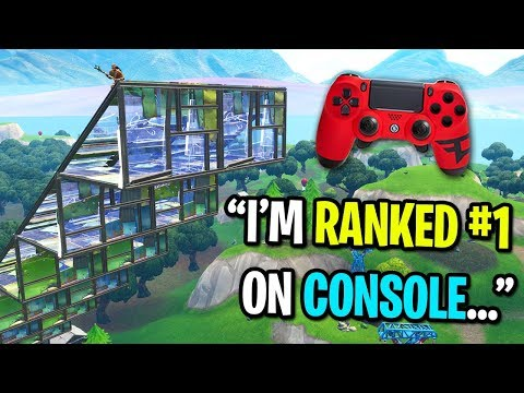 I challenged the BEST Fortnite console player to a playground 1v1 Fastest Controller Builder